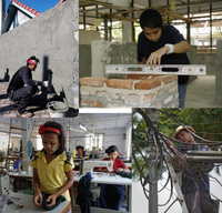 Benchmarking Exercise in Bricklaying/Masonry/Plastering and Sewing Machine Operator Skills Area in Myanmar