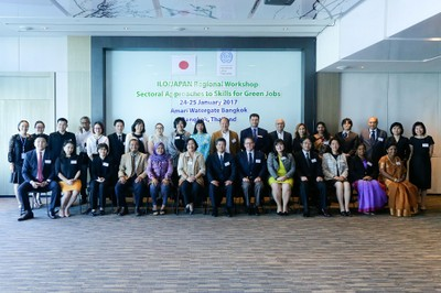 Group photo - ILO/ Japan Regional Workshop on Sectoral Approaches to Skills for Green Jobs