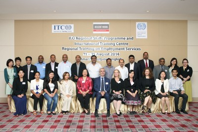 Group Photo - Regional Training on Employment Services, August 2014