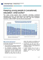 Briefing note - Keeping young people in (vocational) education: what works?