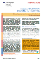 Briefing note - Skills anticipation: looking to the future