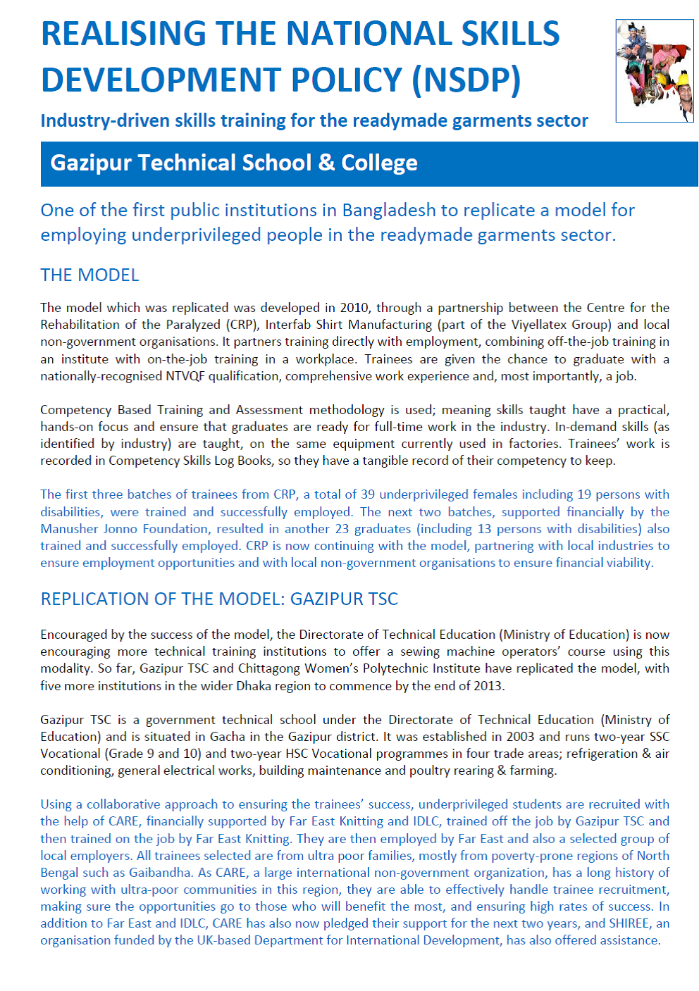 case study gazipur technical school and college industry driven