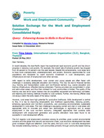 Consolidated reply: e-discussion on rural skills development