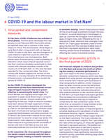 COVID-19 and the labour market in Viet Nam