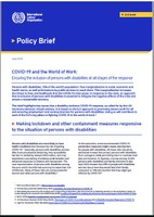 COVID-19 and the World of Work: Ensuring the inclusion of persons with disabilities at all stages of the response
