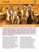 Disability inclusion in the Bangladesh skills system