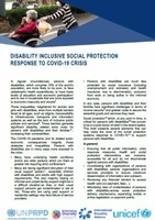 Disability-inclusive Social Protection response to COVID-19 crisis