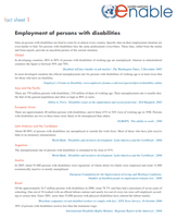 Employment of persons with disabilities