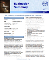 Evaluation of the ILO Disability Inclusion Strategy and Action Plan 2014-17
