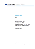 Green skills and environmental awareness in vocational education and training