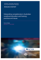 Interpreting competencies in Australian vocational education and training: practices and issues