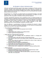 Key Elements of Quality Apprenticeships
