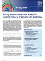 Making apprenticeships and workplace learning inclusive of persons with disabilities