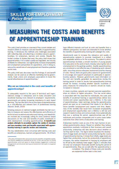 Measuring the costs and benefits of apprenticeship training