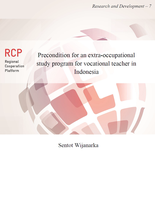 Precondition for an extra-occupational study program for vocational teacher in Indonesia