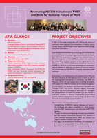 Project fact sheet: Promoting ASEAN Initiatives in TVET and Skills for Inclusive Future of Work