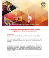 Promoting green jobs for youth through national employment policies and programmes