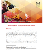 Promoting Youth Employment in Fragile Settings