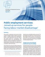 Public employment services: Joined-up services for people facing labour market disadvantage