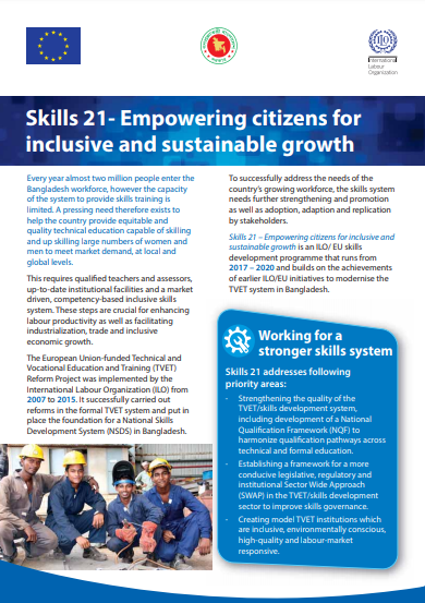 Skills 21- Empowering citizens for inclusive and sustainable growth
