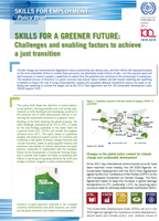Skills for a greener future: Challenges and enabling factors to achieve a just transition