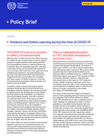 Skills for Employment Policy Brief - Distance and Online Learning during the time of COVID-19