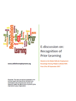 Summary report: E-Discussion on Recognition of Prior Learning