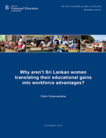 Why aren't Sri Lankan women translating their educational gains into workforce advantages?